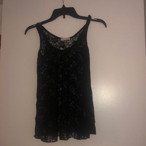 Sheet lace lush tank